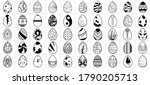 illustration set of easter eggs ... | Shutterstock . vector #1790205713
