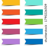 paper labels set with white... | Shutterstock .eps vector #1790226509