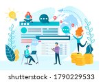optimization of the selling... | Shutterstock . vector #1790229533