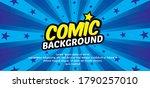 pop art comic background with...   Shutterstock .eps vector #1790257010