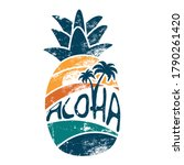'aloha' hand lettering in a... | Shutterstock .eps vector #1790261420