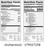 two versions of a nutrition... | Shutterstock . vector #179027258