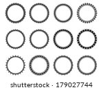 isolated set black and white... | Shutterstock .eps vector #179027744