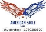 american eagle patriotic logo... | Shutterstock .eps vector #1790280920