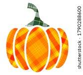 Plaid Pumpkin In Applique Or...