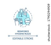 hygiene rules at work concept... | Shutterstock .eps vector #1790294909