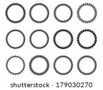 isolated set black and white... | Shutterstock . vector #179030270