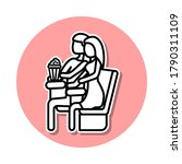 lovers of cinema sticker icon....
