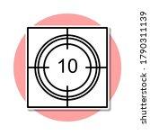 cinema timer sticker icon....