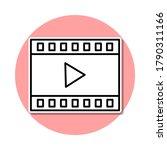 film lent play sticker icon....