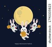 happy mid autumn festival ... | Shutterstock .eps vector #1790335823