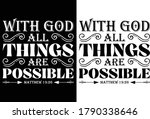 With God All Things Are...