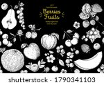 berries and fruits drawing... | Shutterstock .eps vector #1790341103