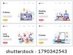 reading books online technology ... | Shutterstock .eps vector #1790342543