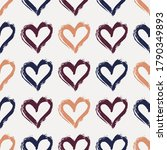 repeated hearts drawn by hand.... | Shutterstock .eps vector #1790349893