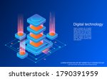 digital technology flat 3d...   Shutterstock .eps vector #1790391959