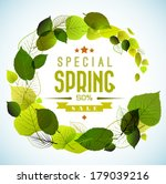 spring sale vector poster with... | Shutterstock .eps vector #179039216