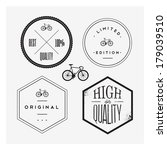 bike stamp set | Shutterstock .eps vector #179039510