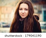 portrait of young charming... | Shutterstock . vector #179041190