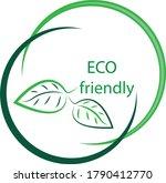 logo template for organic... | Shutterstock .eps vector #1790412770