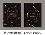 modern luxury wedding... | Shutterstock .eps vector #1790414000