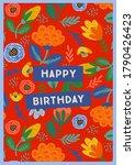 happy birthday. vector... | Shutterstock .eps vector #1790426423