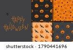 happy halloween seamless... | Shutterstock .eps vector #1790441696