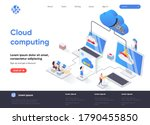cloud computing isometric...