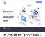 medicine isometric landing page....