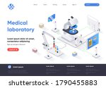 medical laboratory isometric...
