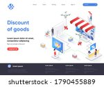 discount of goods isometric...