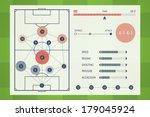 user interface of soccer tactic ... | Shutterstock .eps vector #179045924