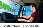 trucker vector illustration ... | Shutterstock .eps vector #1790461100