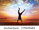 freedom and creativity  man... | Shutterstock . vector #179049683