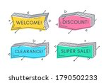 linear promotion banner shape ... | Shutterstock .eps vector #1790502233