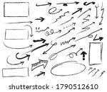 hand drawn arrows  rectangles... | Shutterstock .eps vector #1790512610