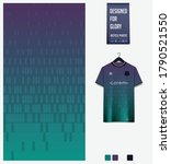violet blue geometry shape... | Shutterstock .eps vector #1790521550