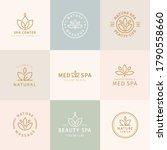 set of lotus logo design ...   Shutterstock . vector #1790558660