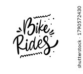 bike rides. black color text.... | Shutterstock .eps vector #1790572430
