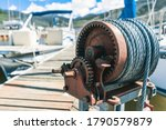 Dock Winch On A Marina
