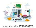 pharmaceutical industry medical ... | Shutterstock .eps vector #1790608976