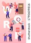 people hiring work concept.... | Shutterstock .eps vector #1790609816