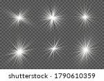 white glowing light explodes on ... | Shutterstock .eps vector #1790610359