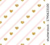 gold heart seamless pattern.... | Shutterstock . vector #1790623100