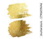 gold paint smear stroke stain... | Shutterstock .eps vector #1790659646