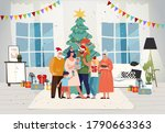 family together at home for... | Shutterstock .eps vector #1790663363