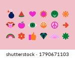 vector set of design elements ...   Shutterstock .eps vector #1790671103