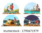set of family travelling ...   Shutterstock .eps vector #1790671979