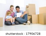 young parents with daughter... | Shutterstock . vector #17906728
