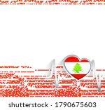 lebanon patriotic background....   Shutterstock .eps vector #1790675603